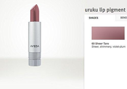 X3 AVEDA Uruku Lip Pigment Lipstick Sheer Shimmery Violet Plum #60-S TARO RV$51 (3 Pack)