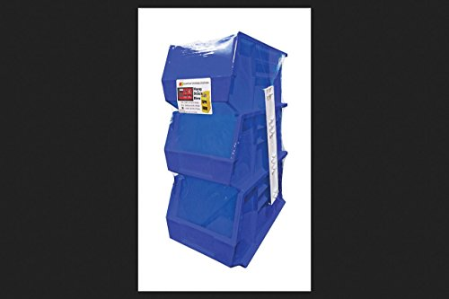 Hang Stack Bins Blue 3pk by Quantum