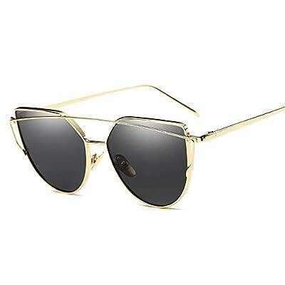 FeliciaJuan Adult Glasses Unisex Metal Frame Sunglasses UV Protection Sunglasses
