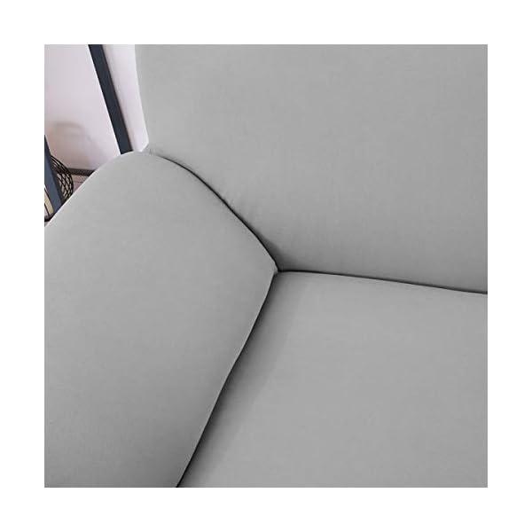 WINOMO Housse de Canapé Salon Couverture Extensible 3 places chaise housses Spandex Décor (Gris)