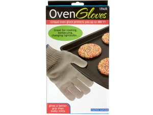 Heat Resistant Oven Gloves - Pack of 10 by bulk buys