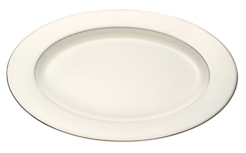- Mikasa Gothic Platinum Oval Serving Platter, 14-Inch