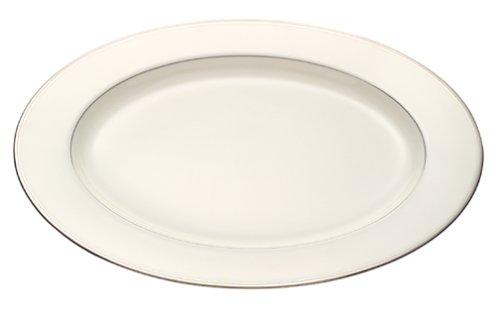 Mikasa Gothic Platinum Oval Serving Platter, 14-Inch