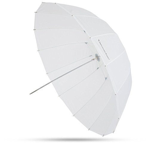 UNPLUGGED STUDIO 41inch Deep Parabolic Translucent Umbrella 16 Fiberglass Rib Includes Carrying Bag UN-021