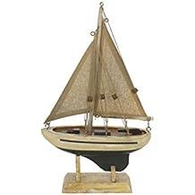 "Hampton Nautical Sailboat9-125 Wooden by The Sea Sailboat9-125 Sailboat 9"" - Sailboat Decoration - Sailboat9-125 Sailing Ship"