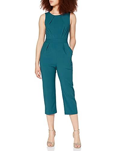 Closet London Damen Sleeveless Jumpsuit, Grün (Teal Teal), 36 (Herstellergröße: 10)