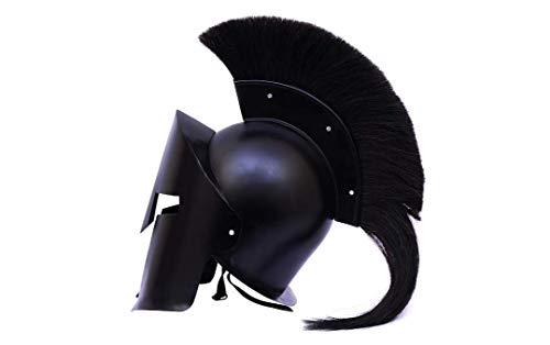 Sara Nautical Greek Spartan Crested Steel Helmet with