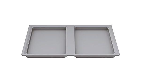 9060.50.50671 color: aluminio gris Ronin Furniture Fittings/® Ninka Tapa para papelera basura eins2vier 13,5/L