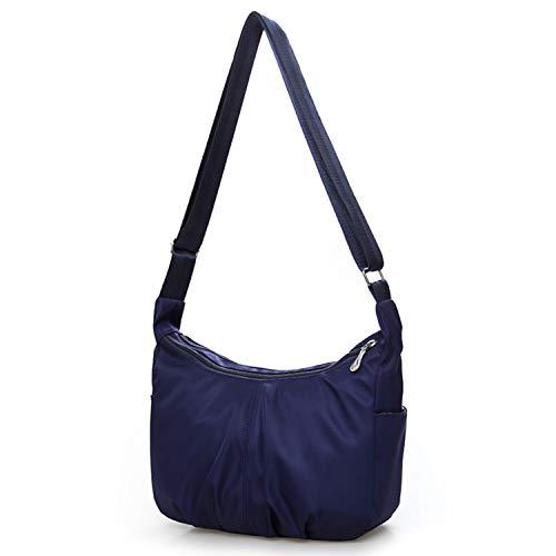 Women Shoulder Bags Waterproof Nylon Hobo Bag Large Capacity Casual Mummy Bag Travel Handbag Bolsos for Ladies Solid,dark blue ()