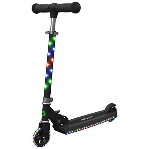 Jetson Jupiter Kick Scooter with LED Light-Up Deck, Stem, and Wheels, for Kids 5 and Up (Renewed) ()