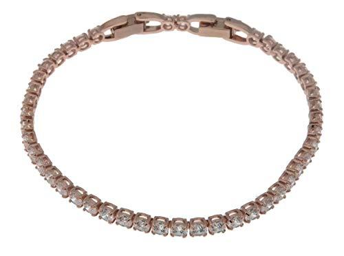 Swarovski Crystal Rose Gold-Plated Tennis Bracelet