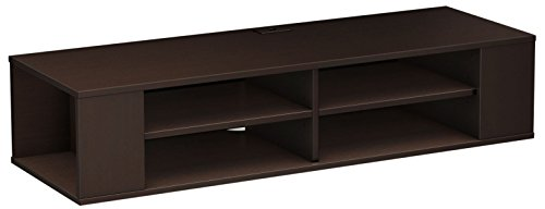 South Shore City Wall Mounted Media Audio/Video Console, Chocolate