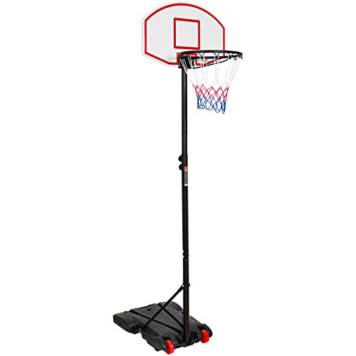 Best Choice Products Portable Kids Junior Height-Adjustable Basketball Hoop Stand Backboard System W/Wheels