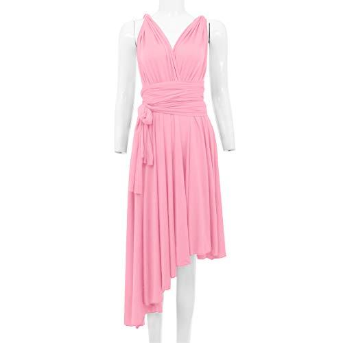 6434b861123e Castle Haute Ado Fille Taille Ibtom Demoiselle Rose Longue De Manche Sans  001 Robe Multi style ...