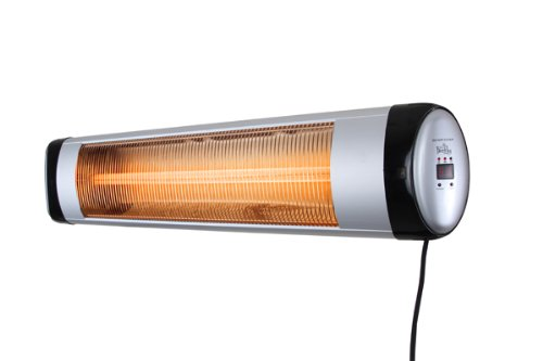 Firefly 2kW Wall Mounted Infared Quartz Electric Outdoor Patio Heater With  Thermostat And Remote Control