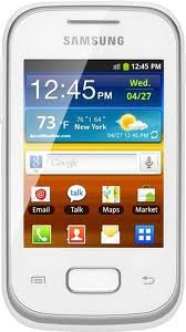 Samsung - Galaxy Pocket S5300 Unlocked GSM Phone with 3G, Android 2.3 OS, 2MP Camera, GPS and Wi-Fi - White