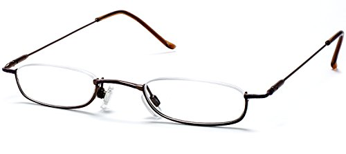 FG Jennifer Aniston Style Slim Reading Glasses w/ Hard Pocket Case Optical Quality Low Riding +100, 125, 150, 175, 200, 225, 250, 275, 300, 325, 350 Power - Jennifer Aniston Style
