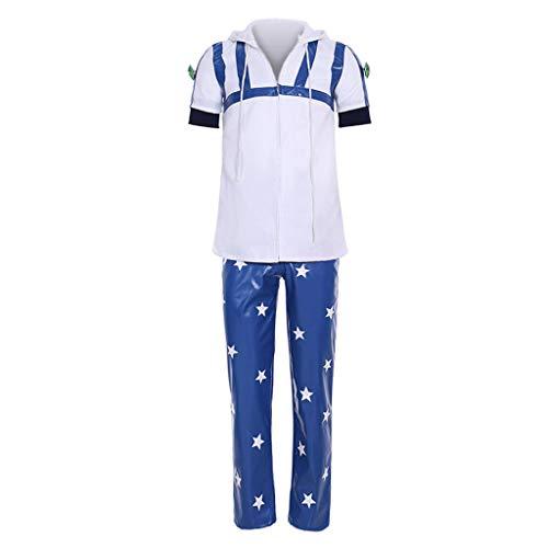 CosplayDiy Men's Suit for JoJo's Bizarre Adventure Johnny Joestar Cosplay Costume cm