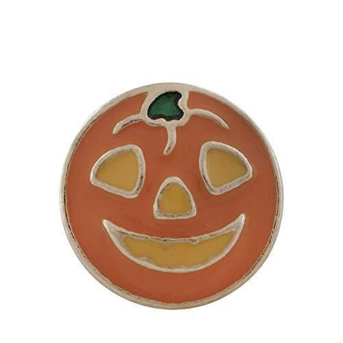 My Prime Gifts Mini 12mm Snap Jewelry Halloween Jack-O-Lantern Pumpkin Enamel