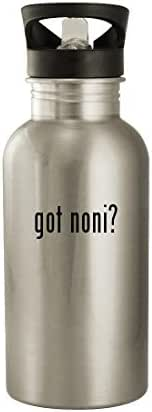 got noni? - 20oz Stainless Steel Water Bottle, Silver
