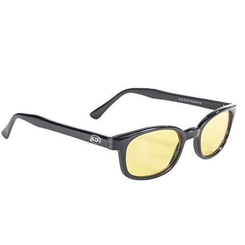 Original X-KDs Biker Yellow Lenses Black Frames 20% Sunglasses
