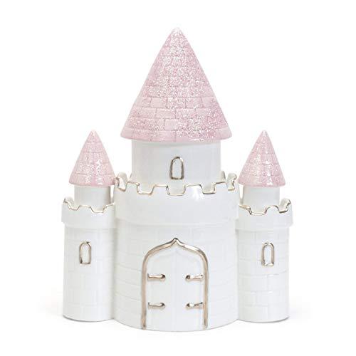 Child to Cherish Ceramic Dream Big Princess Castle Piggy Bank for Girls, Pink
