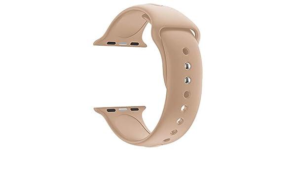 Reloj Apple de Cuatro Generaciones Reloj Apple Series 4 Correa de Silicona de 44 mm con una Sola Banda reemplazo Brazalete Deportes Strap: Amazon.es: ...