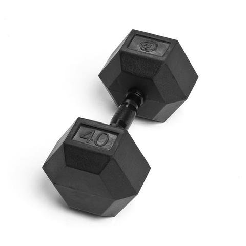 Element Fitness Virgin Rubber Commercial Hex Dumbbells - low odor- 40 lbs by ELEMENT FITNESS