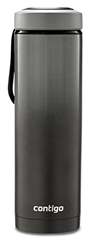Contigo Vacuum-Insulated Stainless Steel Water Bottle with a Quick-Twist Lid, 24 oz., Licorice