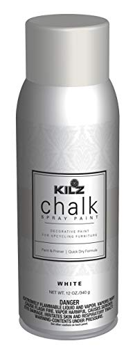 KILZ L540546 Chalk Spray Paint for Upcycling Furniture 12 oz. Aerosol White