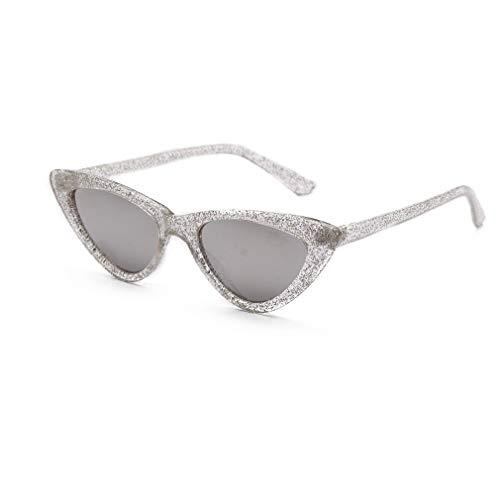 Sol Unisex Polarizadas de Eye Gafas Mujer Vintage Retro Gafas UV400 Lente de Espejo Sol Cat Gafas C5 Súper Fliegend Hombre Ligero 7xqIXYw