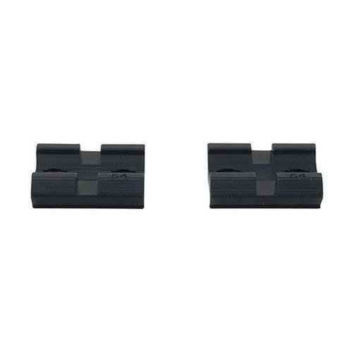 Weaver Top Mount Matte Black Base Pair - Browning BAR