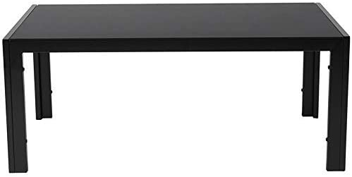 Flash Furniture Franklin Collection Sleek Black Glass Coffee Table with Black Metal Legs, HG-112364-GG