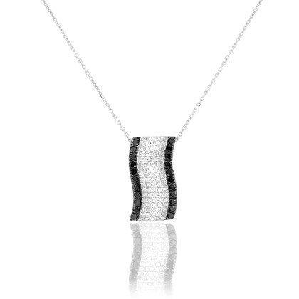 HISTOIRE D'OR - Collier Or Et Diamants - Femme - Or blanc 375/1000 - Taille Unique