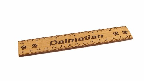- Dalmatian 6 Inch Alder Wood Ruler