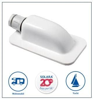 Solara Premium Abs Solar Dachdurchführung Dd1 Kabeldurchführung Weiß Perfekt Auch Für Sat Anlagen Auto