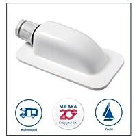 SOLARA® Premium ABS Solar dakdoorvoering DD1 kabeldoorvoer wit, ook perfect voor SAT-installaties