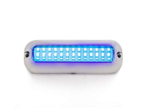 Five Oceans LED Underwater Pontoon Marine Boat Transom Lights, Blue, Cool White