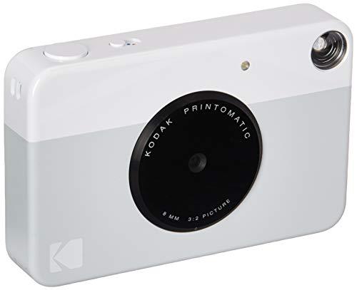 Kodak - Cámara Digital de impresión instantánea (Gris), impresión a Todo Color en Zinc, Papel fotográfico con Reverso calcomanía de 2 x 3 Pulgadas – Imprime Recuerdos al Instante