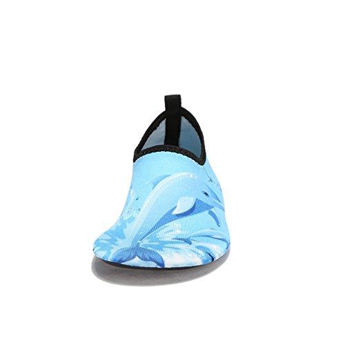 Laiwodun zapatos de niño Zapatos de agua de natación Niños Zapatos de niños descalzo Aqua calcetines para la piscina de playa Surf Yoga Unisex Color-1