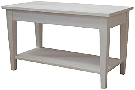 Legno Naturale Sbiancato : Pieffe mobili shabby tavolino legno naturale sbiancato amazon