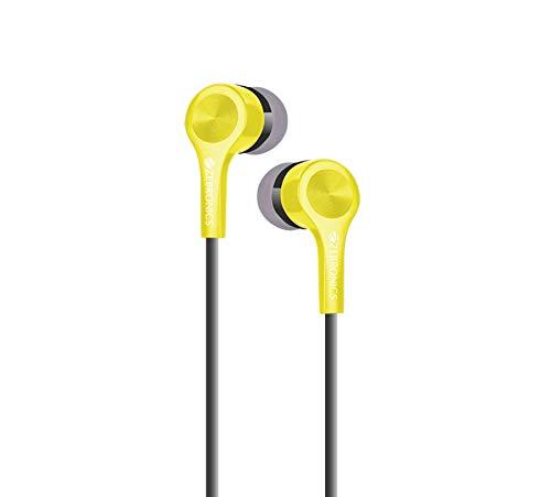 Zebronics ZEB EMZ10 Wired Earphone Headset with Mic  Yellow