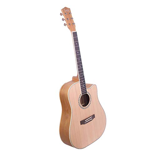 GT603 41 Inch Dreadnought Spruce Front Cutaway Manchurian Ash Back Folk Guitar For Beginners Adults