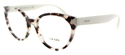 Prada PR01TV Eyeglass Frames UAO1O1-53 - Spotted Opal Brown - Cat Prada Eyes