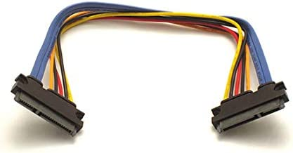 18 in SATA III 22 Pin SATA Female to 22 Pin SATA Female Power /& Data Cable