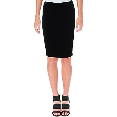 Aqua Womens Velvet Knee-Length Pencil Skirt