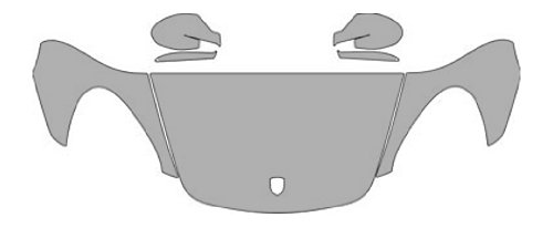 (P#:2010-PORSCHE-CAYMAN-11976M Clear Bra Paint Protection Film Kit for a PORSCHE CAYMAN S. Coverage includes a Hood Fender Mirror Kit (3M Scotchgard Film))