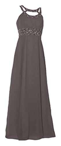 GEORGE BRIDE - Vestido - corte imperio - Sin mangas - para mujer gris