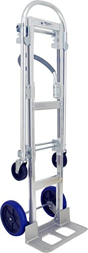 RWM HC4-CA2-FN2-B2(1) Small Convertible Hand Truck Standard Frame, Pneumatic Wheels with Single Side Wheel Brake, 18