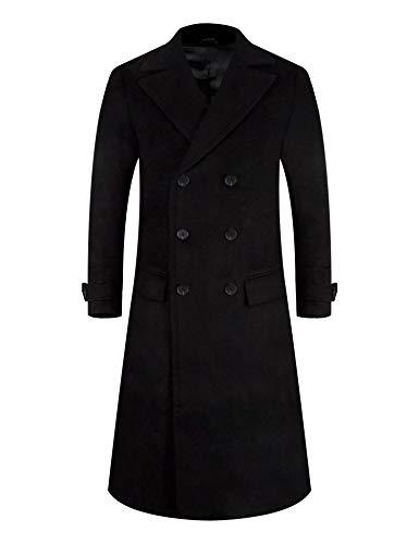 APTRO Mens Coats Thick Wool Coats Winter Jacket Long Elegant Outwear Slim Fit Trench Coat 1817